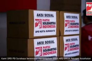 DPD PSI Surabaya Salurkan 1.000 Alat Pelindung Diri (APD)